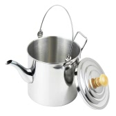 2000ml Camping Pot Outdoor Stainless Steel Tea Kettle Coffee Pot