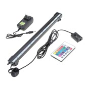 31cm 4.1W 12 LEDs Bubble Aquarium Light 120 Degree RGB 15Colors IP68 Submersible Remote Control Fish Tank LED Light Bar