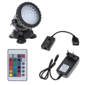 Underwater 36LEDs 1.5W 12V Waterproof  IP68 Submersible Spot Light RGB  for  Aquarium Garden Pond Pool Tank