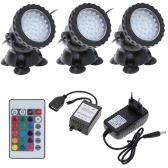 Underwater 108LEDs 4.5W 12V Waterproof IP68 Submersible 3-Light Spot  Light for Aquarium Garden Pond Pool Fountain Tank