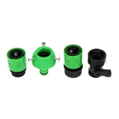 Green Ultralight Garden Water Hose Connecting Fitting Faucet Connector + Fast Connector + Valve