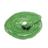 100FT Expandable Ultralight Garden Hose Fittings Set Flexible Water Pipe + Faucet Connector + Fast Connector + Valve + Multi-functional Spray Nozzle Green