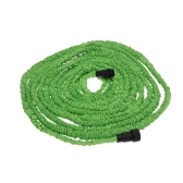 75FT Expandable Ultralight Garden Hose Fittings Set Flexible Water Pipe + Faucet Connector + Fast Connector + Valve + Multi-functional Spray Nozzle Green