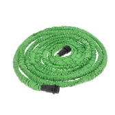50FT Expandable Ultralight Garden Hose Fittings Set Flexible Water Pipe + Faucet Connector + Fast Connector + Valve + Multi-functional Spray Nozzle Green