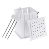 Plastic Meat Kabob Maker Box Skewers Spiedini Kebab with 36 Holes Barbecue BBQ Tools