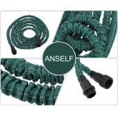 Anself Flexible Expandable Ultralight Garden Watering Hose Magic Pipe Dark Green 100FT