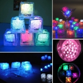 Mini Creative Luminous LED Artificial Ice Cube Wedding Party Decoration  Purple