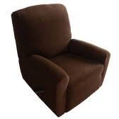 High Quality Elastic Soft Polyester Spandex One Seater Recliner Cover Red