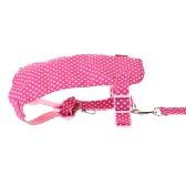 Pet Dog Harness Set  Large & Medium Sized Dog Running Leash Dog Traction Rope + Harness + Collar L