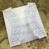 20 pcs White Laser Cut Wedding Celebration Birthday Party Invitation Card