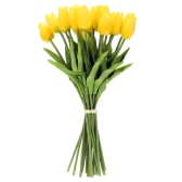 20PCS Artificial Tulip Flowers Single Long Stem Bouquet Real Touch Beautiful Simulation Flowers for Home Room Party Wedding Decoration