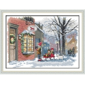 52*39cm DIY Handmade Counted Cross Stitch Needlework Set Embroidery Kit Christmas Wishes Home Decoration 14CT