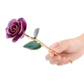 24K Gold Dipped Trim Real Rose Long Stem Luxury Gorgeous Gift for Valentines