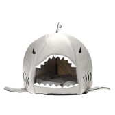 Lovely Soft Shark Shaped Pet Dog Puppy House Kennel Bed with Warm Cotton Cushion