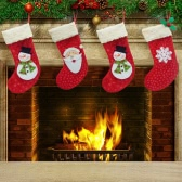 Hot Sale Christmas Tree Hanging Socks/Stockings for Chimney Snowman Ornament Candy Bag XMAS Decoration 3pcs