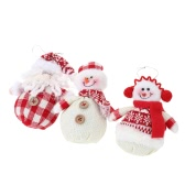 3Pcs Mini Christmas Ornaments Dolls Set Santa Claus Snowman Christmas Tree Hanging Decoration