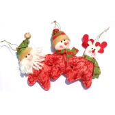 Cute Star-shaped Santa Claus Reindeer Snowman Christmas Decoration Great Christmas Tree Hanging Ornament