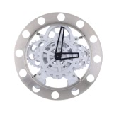Gear Clock Dynamic Hollow Wall Clock Mechanical Appearance Metal Quartz Clock Nice Home Decor Special Creativity Gift for Friends or Famliy