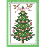 13 * 21cm DIY New Style Counted Cross Stitch Set Embroidery Needlework Kits Christmas Tree Pattern Cross Stitching Home Decoration 14CT