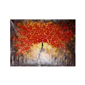 70*99cm/60*90cm Hand-painted Oil Painting Wintersweet Tree Decorative Art for Home Living Room Bedroom Office Hotel Decoration without Frame