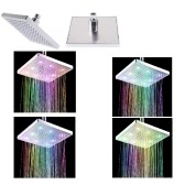 "Anself 8"" inch Square 7 Colors LED Spray Shower Head"