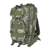30L Outdoor Sport Military Tactical Backpack Molle Rucksacks Camping Hiking Trekking Bag Woodland Camouflage