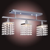 Crystal Chandelier with 3 Lights Lamp Ceiling Lighting - Linear Design 110-120V