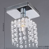 Mini Semi Flush Mount in Crystal Chandelier Light Lamp Lighting Chrome Finish 220-240V