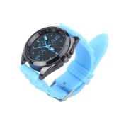 Men Women Stylish Silicone Strap Casual Wrist Watch Unisex Blue