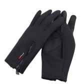 Touch Screen Windproof Warm Gloves Outdoor Cycling Skiing Hiking Unisex Black