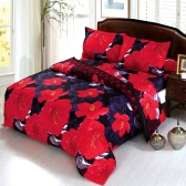 Butterfly Fire Pattern 4Pcs 3D Printed Bedding Set Bedclothes Home Textiles Quilt Cover Bed Sheet 2 Pillowcases