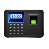 "2.4"" TFT LCD Display USB Biometric Fingerprint Attendance Machine DC 5V/1A Time Clock Recorder Employee Checking-in Reader A6"