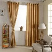 "2PCS 100*250cm Grommet Blackout Curtain Linings Panel Solid Bright Colored Window Curtains Soft Window Drape Classy Window Treatments Size 39""*98"""