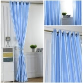 2PCS 100*250cm Grommet Blackout Curtain Linings Panel Solid Bright Colored Window Curtains