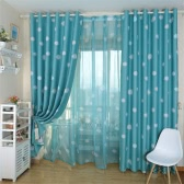 "Anself 100*250cm Romantic Cloud Pattern Voile Door Window Curtains Window Screen for Living Room Wedding Banquet Decoration Size 39""*98"""
