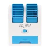 Mini Portable USB Fan Stepless Controllable Speed Desk Fan with 2 Adjustable Fan Outlet
