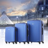 TOMSHOO 3 Piece Luggage Set-Blue