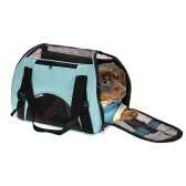 Fashion Portable Pet Dog Cat Carrier Folding Dog Cat Soft-sided Carrier Travelling Bag with 2 Openings + Shoulder Strap