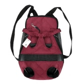 Anself Breathable Cute Canvas Pet Bag Puppy Dog Cat Carrier Head out Front Chest Backpack for Outdoor Travel Use