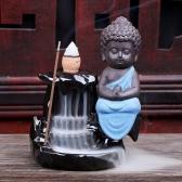 Creative Artistic Incienso Ceramic Mini Incense Burner Cone Tower Censer Smoke Backflow Stream Back Down Holder Home Decor Stove Ash Catcher Buddhist