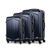 "TOMSHOO Luxury 3PCS Spinner Luggage Set Hard Shell 20"" 24"" 28"" Carry On Suitcase Trolley ABS + PC W/ Combination Lock"