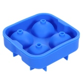 Food Grade Silicone 1.8in/4.5cm Ice Ball Tray Maker 4 Grids Mold Sphere Mould for DIY Ice Cream Drink Whisky Wine Home Kitchen Party Bar