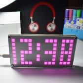 DIY Digital LED Clock Kit DS3231 High Precision Touch Key Control Brightness Adjustable Dot Matrix Temperature Date Time Display