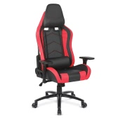iKayaa Ergonomic Racing Style Gaming Office Chair Cool Executive Computer Chair W/ Recline Height & Armrest Adjustable Tilt Swivel Function + Headrest and Waist Pillow