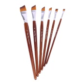 6pcs Nylon Hair Paintbrush Set Wooden Handle Artists Gouache Watercolor Acrylic Painting Brushes Art Supplies