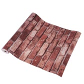 Stunning Vivid 3D Faux Brick Wallpaper Chinese Retro Style Water Resistant Brick Wall Pattern Wallpaper Room Decoration Background 0.53m*10m=5.3㎡