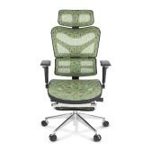 iKayaa Multi-function Adjustable Mesh Ergonomic Office Chair Swivel Tilt Executive Computer Desk Chair W/ Footrest Headrest Lumbar Support Pass ANSI/BIFMA Standard