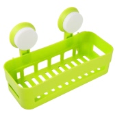 High-quality Multi-use Plastic Bathroom Kitchen Shelf Storage Rack Wall Mount Bathroom Organizer Holder Basket W/2 Suckers