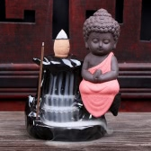 Creative Artistic Incienso Ceramic Mini Incense Burner Cone Tower Censer Smoke Backflow Stream Back Down Holder Home Decor Stove Ash Catcher Buddhist