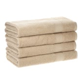 4pcs/set Cotton Soft Fast Absorbant Bath Towel Bathroom Bathing Drying Home Hotel  Towels for Adults Kids--Brown